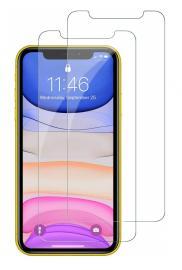 2-Pack - iPhone 11 - Härdat Glas Skärmskydd - Teknikhallen.se