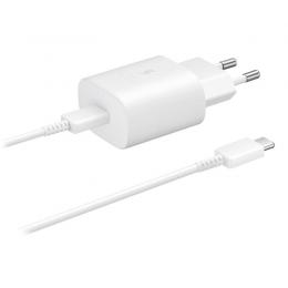 Samsung Samsung 25W 3A USB-C Laddare EP-TA800 inkl. 1m USB-C Kabel - Vit - Teknikhallen.se
