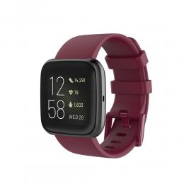 Silikon Armband Fitbit Versa 2/Versa Lite - Vinröd - Teknikhallen.se