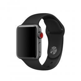 Silikon Armband Apple Watch 44/42 mm - Svart (M/L) - Teknikhallen.se
