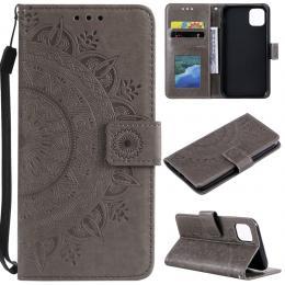 iPhone 11 - Plånboksfodral Mandala - Grå - Teknikhallen.se