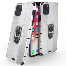 iPhone 11 - Ring Skal - Funkar med magnethållare - Silver - Teknikhallen.se