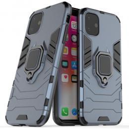 iPhone 11 - Armour Ring Skal - Funkar med magnethållare - Mörk Blå - Teknikhallen.se