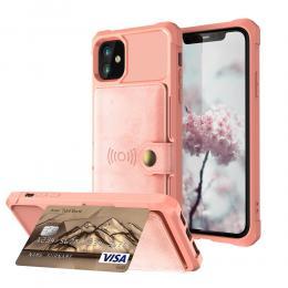iPhone 12 Mini - Skal Med Magnetiskt Plånbok - Roséguld - Teknikhallen.se