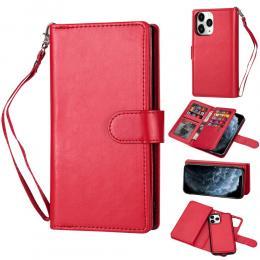 iPhone 12 Pro Max - 9-korts 2in1 Magnet/Fodral - Röd - Teknikhallen.se