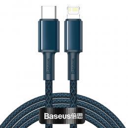 BASEUS Baseus 2m 20W USB-C - Lightning PD Snabbladdning - Blå - Teknikhallen.se