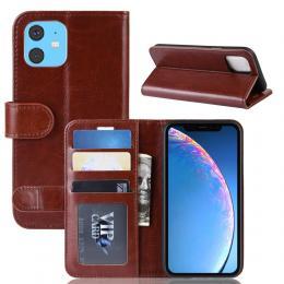 iPhone 11 - Crazy Horse Plånboksfodral - Brun - Teknikhallen.se