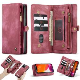CASEME iPhone 12 Pro Max - CASEME 2-i-1 Magnet Skal/Fodral - Röd - Teknikhallen.se