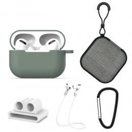 Komplett paket för dina AirPods Pro - Grön - Teknikhallen.se
