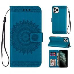 iPhone 12 Pro Max - Mandala Plånboksfodral - Blå - Teknikhallen.se