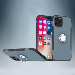 iPhone 12 Pro Max - Ring Skal - Navy Blue - Teknikhallen.se
