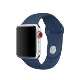 Silikon Armband Apple Watch 42/44 mm (S/M) - Navy Blue - Teknikhallen.se