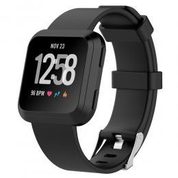 Silikon Armband Fitbit Versa/Versa 2 - Svart - Teknikhallen.se