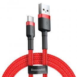 BASEUS Baseus Cafule 2m USB-C QC3.0 Laddningskabel - Röd - Teknikhallen.se