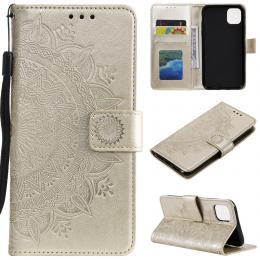 iPhone 11 - Plånboksfodral Mandala - Guld - Teknikhallen.se