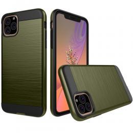 iPhone 11 - Brush Design Skal - Army Green - Teknikhallen.se