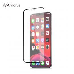 iPhone 12 Mini - AMORUS Heltäckande Skärmskydd I Härdat Glas - Teknikhallen.se
