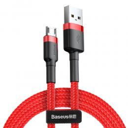 BASEUS Baseus Cafule 1m Micro USB QC3.0 Laddningskabel - Röd - Teknikhallen.se