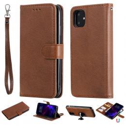 iPhone 11 - Plånboksfodral/Magnet Skal 2in1 - Brun - Teknikhallen.se