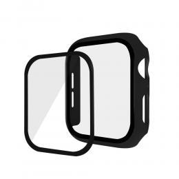 Härdat Glas  Skydd Apple Watch 44 mm - Svart - Teknikhallen.se