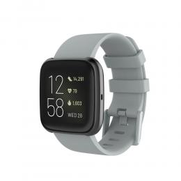 Silikon Armband Fitbit Versa 2/Versa Lite - Grå - Teknikhallen.se