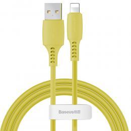 BASEUS Baseus 1.2m Lightning Kabel 2.4A - Gul - Teknikhallen.se