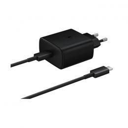 Samsung Samsung 25W 3A USB-C Laddare EP-TA800 inkl. 1m USB-C Kabel - Svart - Teknikhallen.se