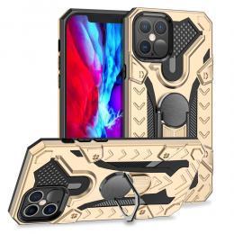 iPhone 12 Pro Max - Armor Ring Skal - Guld - Teknikhallen.se