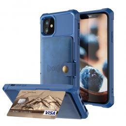 iPhone 12 Mini - Skal Med Magnetiskt Plånbok - Blå - Teknikhallen.se