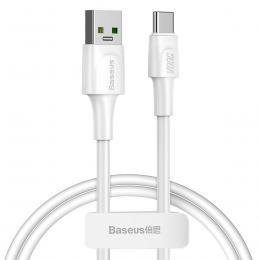 BASEUS Baseus VOOC 1m 5A USB-C QC3.0 Kabel - Vit - Teknikhallen.se