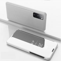 Samsung Galaxy S20 FE - Mirror Flip Fodral - Silver - Teknikhallen.se