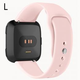 Silikon Armband Fitbit Versa/Versa 2/Versa Lite - Rosa - Teknikhallen.se