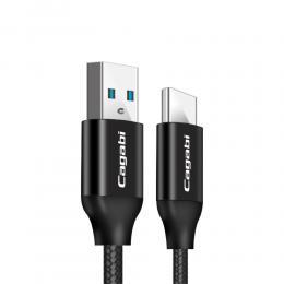 Cababi Cababi Type-C / USB-C Kabel 1M Quick Charge - Svart - Teknikhallen.se