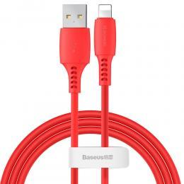 BASEUS Baseus 1.2m Lightning Kabel 2.4A - Röd - Teknikhallen.se