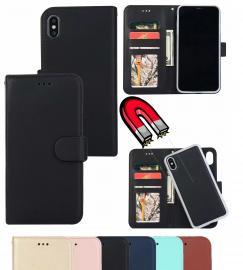 iPhone Xs Max - Plånboksfodral / Magnet Skal 2in1 - Mörk Blå - Teknikhallen.se