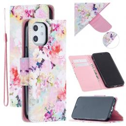 iPhone 12 Mini - Plånboksfodral - Blommor - Teknikhallen.se