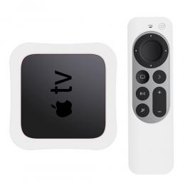 Apple TV 4K 2021 Silikonskal För Kontroll  Box - Vit - Teknikhallen.se