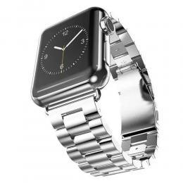 Lyxigt Metallarmband Apple Watch 42/44 mm - Silver - Teknikhallen.se