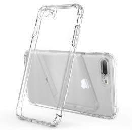 iPhone 7/8 Plus - Shockproof TPU Skal - Transparent - Teknikhallen.se