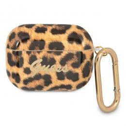 Guess Guess AirPods Pro - Leopard Collection Med Karbinhake - Leopard Guld - Teknikhallen.se