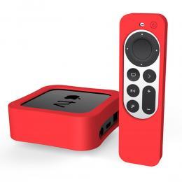 Apple TV 4K 2021 Silikonskal För Kontroll  Box - Röd - Teknikhallen.se