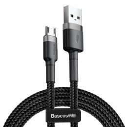 BASEUS Baseus Cafule 2m Micro USB QC3.0 Laddningskabel - Svart/Grå - Teknikhallen.se