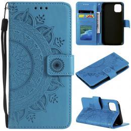 iPhone 11 - Plånboksfodral Mandala - Blå - Teknikhallen.se