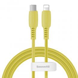 BASEUS Baseus 1.2m 18W USB-C PD - Lightning Kabel - Gul - Teknikhallen.se