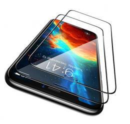 iPhone 12 - 2-Pack Heltäckande Skärmskydd i Härdat Glas - Teknikhallen.se