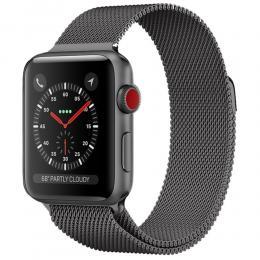 Milanese Loop Metall Armband Apple Watch 42/44 mm - Grå - Teknikhallen.se