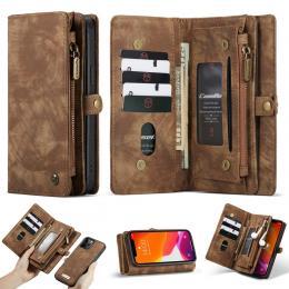 CASEME iPhone 12 Pro Max - CASEME 2-i-1 Magnet Skal/Fodral - Brun - Teknikhallen.se