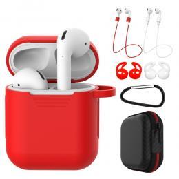 Komplett paket för dina AirPods - Röd - Teknikhallen.se