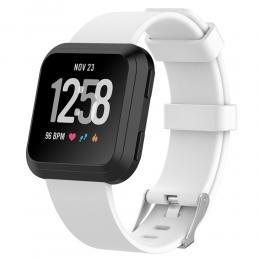 Silikon Armband Fitbit Versa/Versa 2 - Vit - Teknikhallen.se