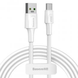 BASEUS Baseus 2m 5A USB-C Snabbladdning Kabel - Vit - Teknikhallen.se